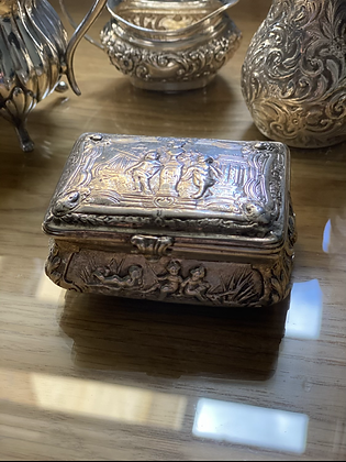 German antique silver box