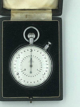 Millitary stopwatch by nero lemania in perfect condition in case