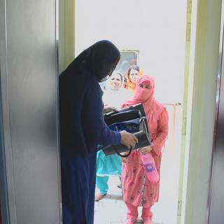 A Lady Searcher in Fauji Foundation Hospital