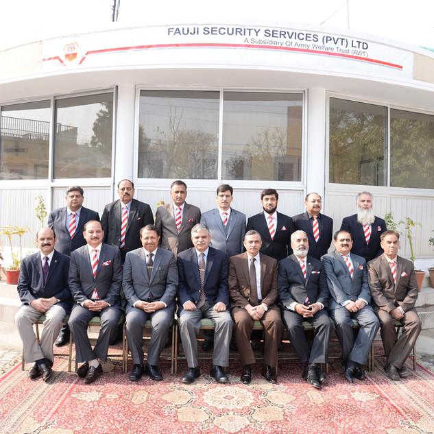 A Group Photo of FSS Officers With Lt Gen Najib Ullah Khan HI (M) MD AWT