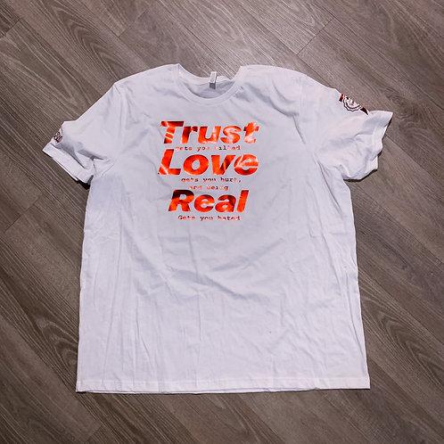 Trust Love Real (White/Metallic Red)