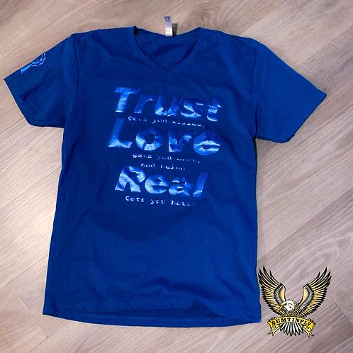 Trust Love Real (Blue/Metallic Blue)