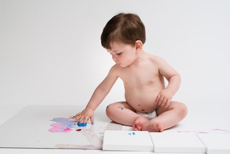 First Birthday Milestone Painting Session