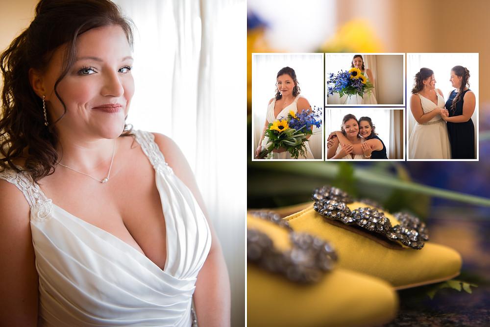 Wedding Collage Bride & Friend Smiling