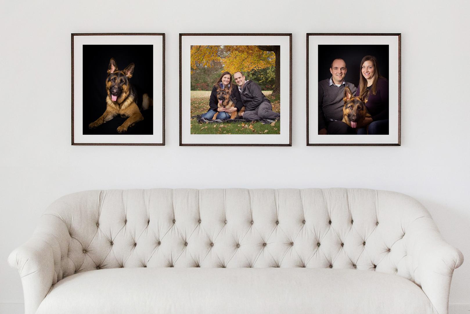 Multiple ready to hang framed print artwork