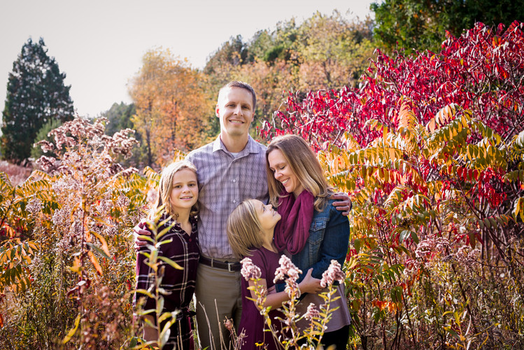 Family Portrait session in Fall