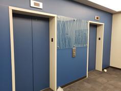 Elevator Lobby Custom Glass Guard Installation and Refnishing