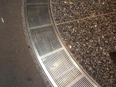 Revolving Door Granite Floor Installation