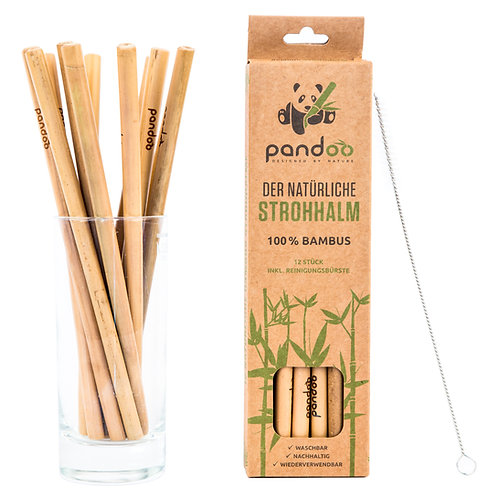 Pandoo Bambus Strohhalme