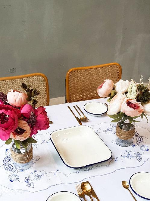 Tablescape Style Set - ENAMEL ROSE (Rental)