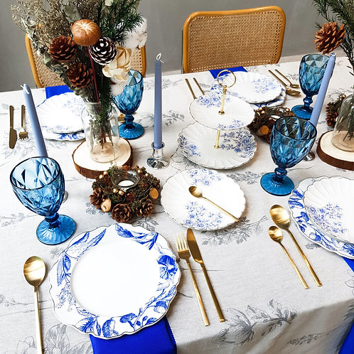 Tablescape Style Set - THE ROYAL BLUE (Rental)
