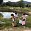 Thumbnail: CHILDREN RATTAN BASKET TROLLEY