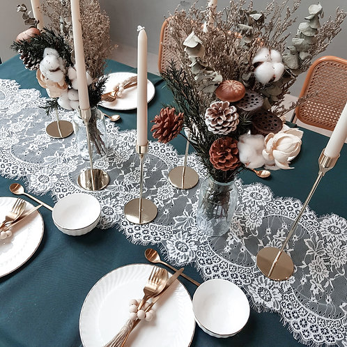Tablescape Style Set (Lace and Gold)
