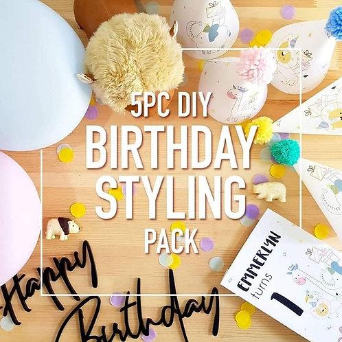 5-piece DIY BIRTHDAY STYLING PACK