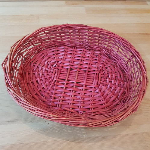 [Rental] Red Rattan Tray