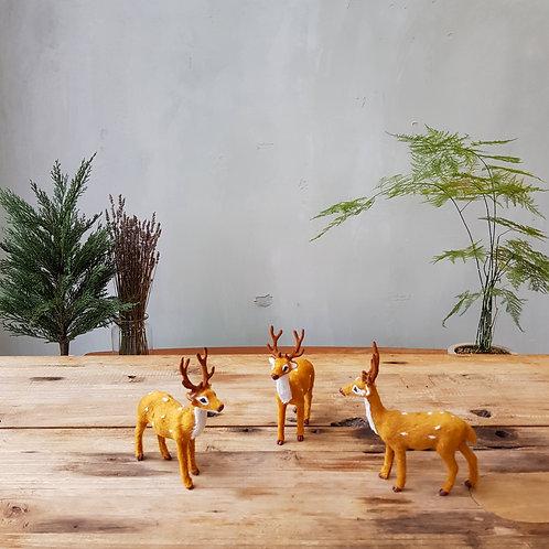 Furry Reindeers (Set of 3)