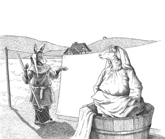The Charcoal Burner and the Fuller. Aesop's Fable 5