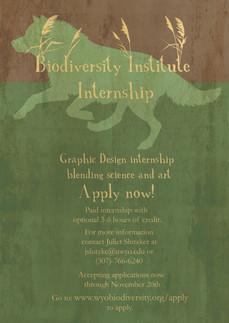 Biodiversity Internship poster