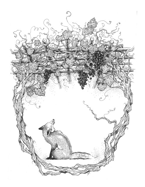 The Fox and the Grapes. Aesop's Fables 1