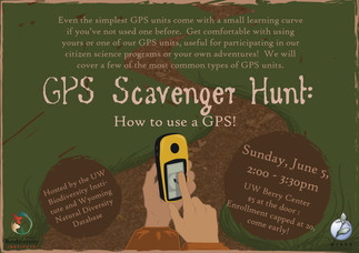 GPS scavenger hunt poster