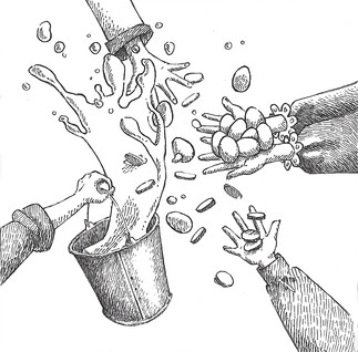 Illustration for The Milk Maiden and her Pail