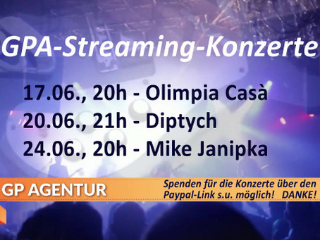 GPA-Streaming-Konzerte ➡️ Termine