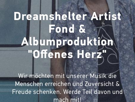 """Crowdfunding-Projekt🎙Dreamshelter Album """"Offenes Herz"""""""