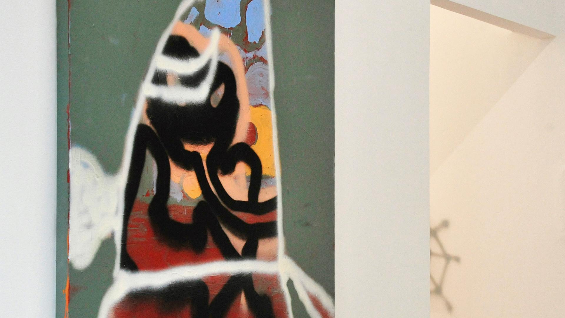 Ohne Titel / 2020 / 70x70cm / Acryl, Lack auf Leinwand   --  Wolfgang Günther / Emde Gallery / Soloshow / Mainz, 2020