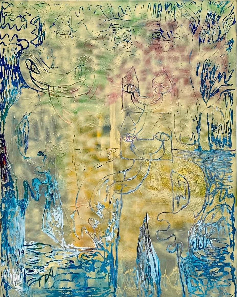 Dreamcatcher / 2019 / 160x120cm / Acrylic on canvas  Wolfgang Günther / Emde Gallery / Solo show / Mainz, 2020