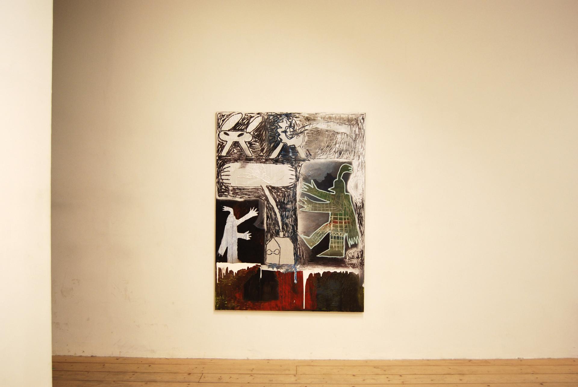 Geheime Ritter / 2019 / 160x120cm / Acrylic on canvas  MOM Art Space, Hamburg 2019