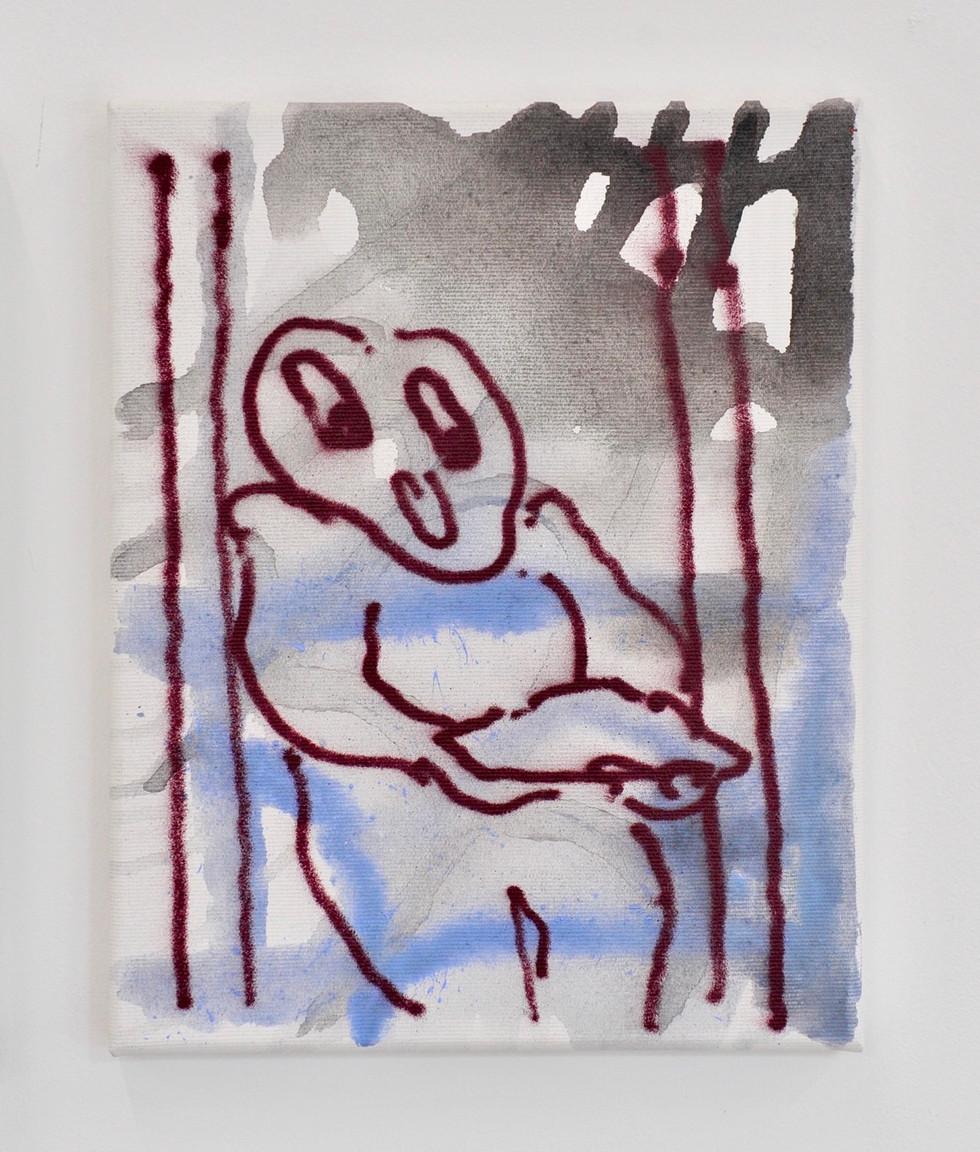O.T. / 2019 / 30x24cm / Acryl,Lack auf Leinwand    ---   first ascent / groupshow /emde gallery / Mainz 2020