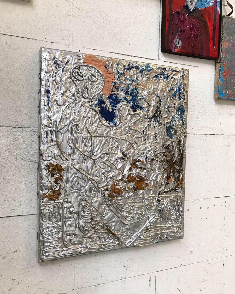 O.T. / 2019 /60x40cm / Acryl, Lack auf Leinwand  ---  Grand Jus / Gruppenausstellung mit u.a. Markus Armbrecht, Pascal Brinkmann, Regine Schulz / Hamburg 2019