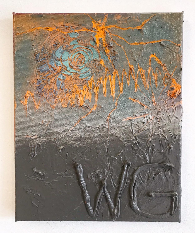 O.T. (Diskrete Signatur series) / 2021 / 30x24cm / Acrylic on canvas