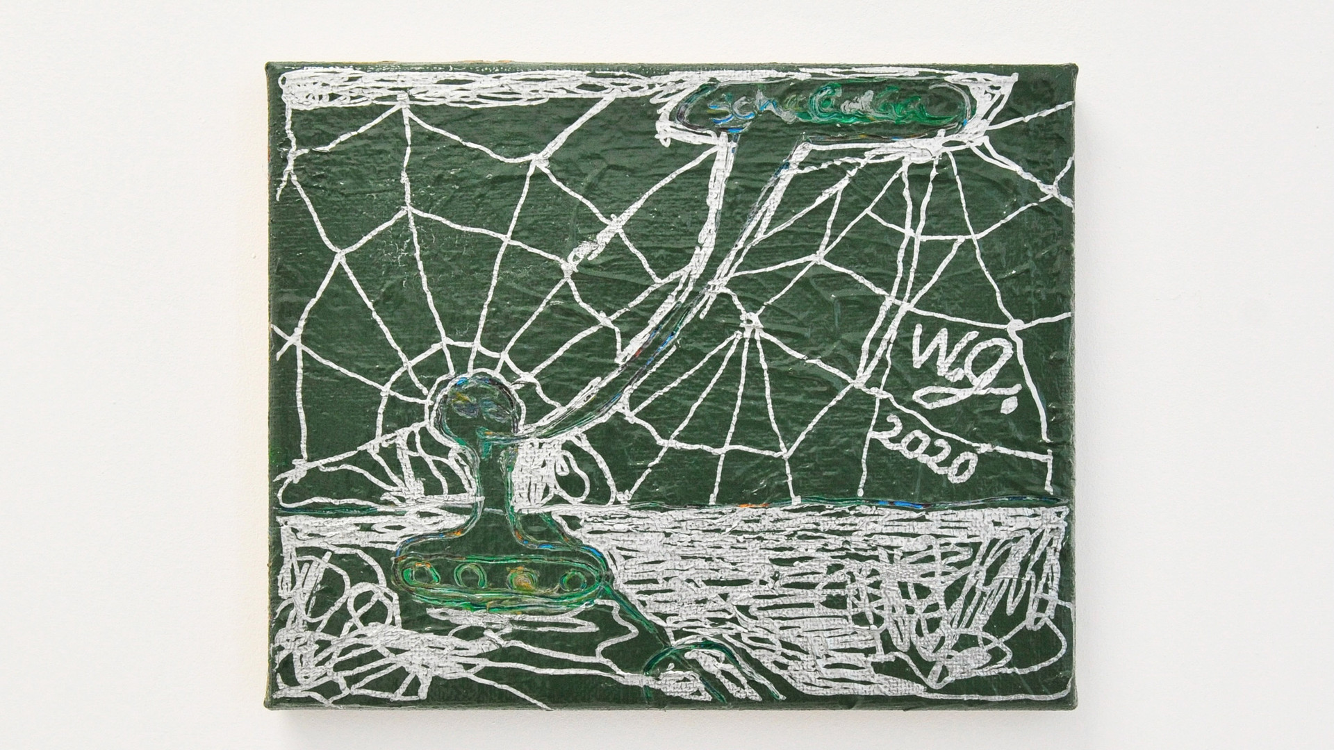 Ohne Titel / 2020 / 24x30cm / Acryl, Lack auf Leinwand   --  Wolfgang Günther / Emde Gallery / Soloshow / Mainz, 2020