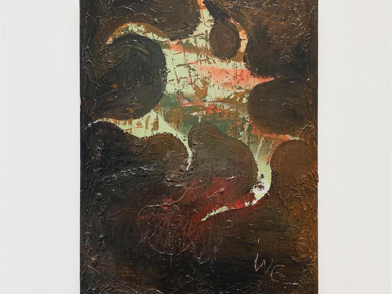 Ohne Titel / 2019 / 80x60cm / Acryl, Collage, Lack auf Leinwand   --  Wolfgang Günther / Emde Gallery / Soloshow / Mainz, 2020