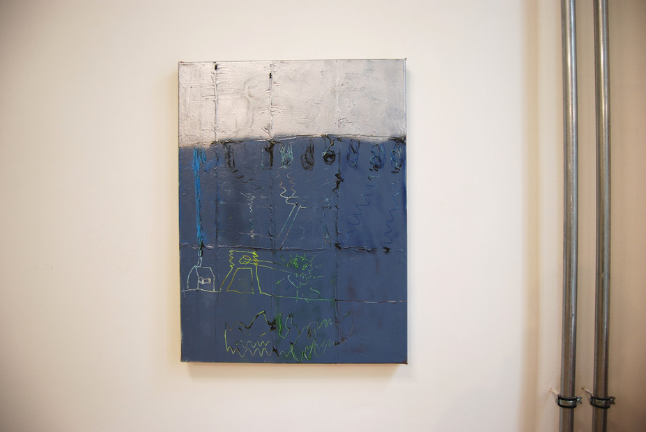 O.T. (Gestörte Signale series) / 2019 / 80x60cm / Acrylic on canvas  MOM Art Space, Hamburg 2019
