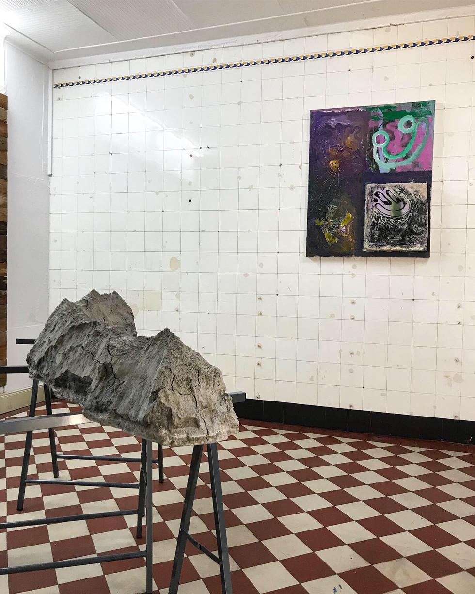 YAWL / Doppelausstellung mit Regine Schulz / Gängeviertel, Hamburg 2019