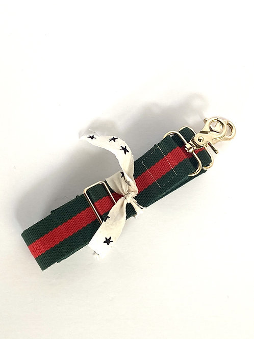 Adjustable Woven Strap  //  olive & red