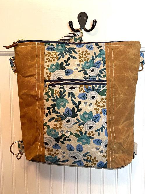 New Backpack / Crossbody Bourbon Canvas