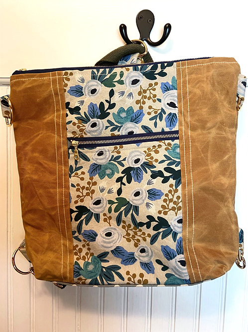 New Backpack / Crossbody Bourbon Canvas