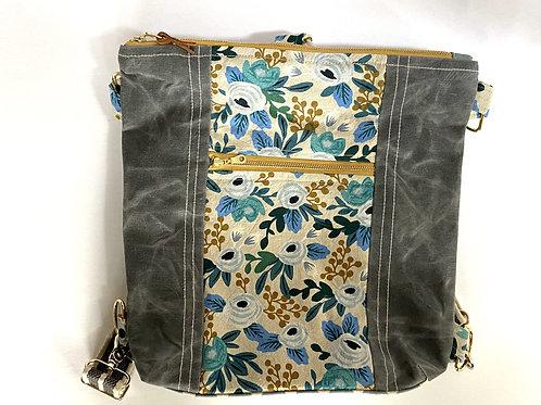 New Backpack / Crossbody Grey Canvas
