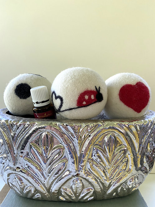 Wool Dryer Ball Set by Whimsy & Whatnots