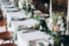 Hochzeitstafel grün