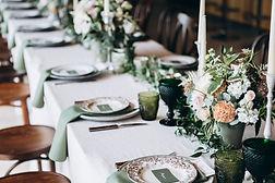 Hochzeitstafel-Einstellung