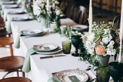 Hochzeitstafel klassisch und stilecht