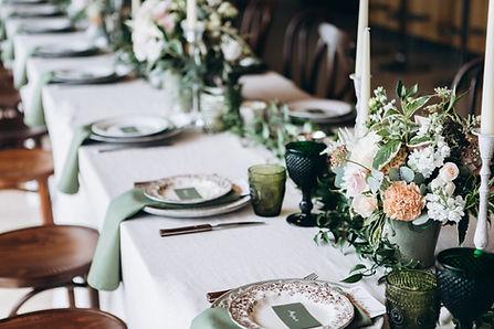 Configuração de mesa de casamento