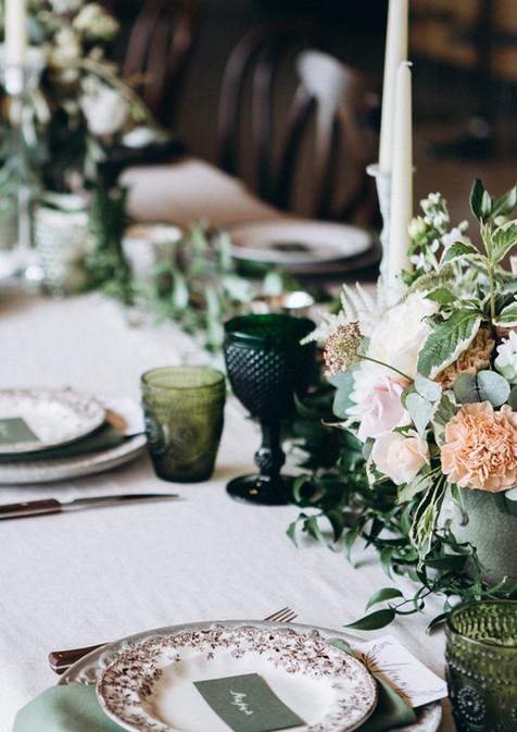 Svatební stůl nastavení