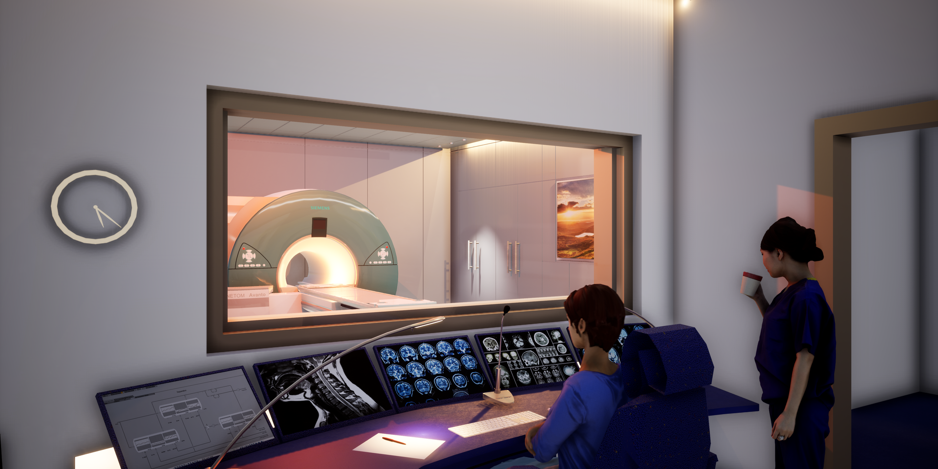 Überwachungsraum MRI