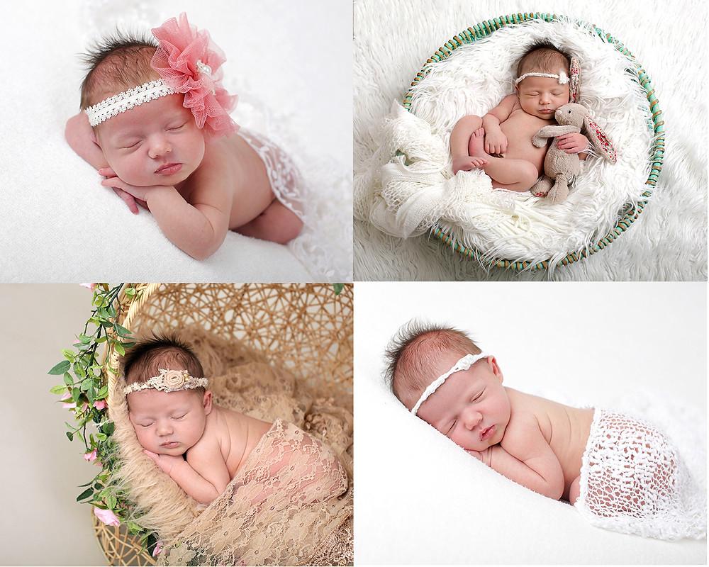 collage newborn shoot