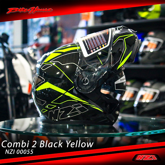 CASCO NZI COMBI SWORD BLACK FLUO YELLOW